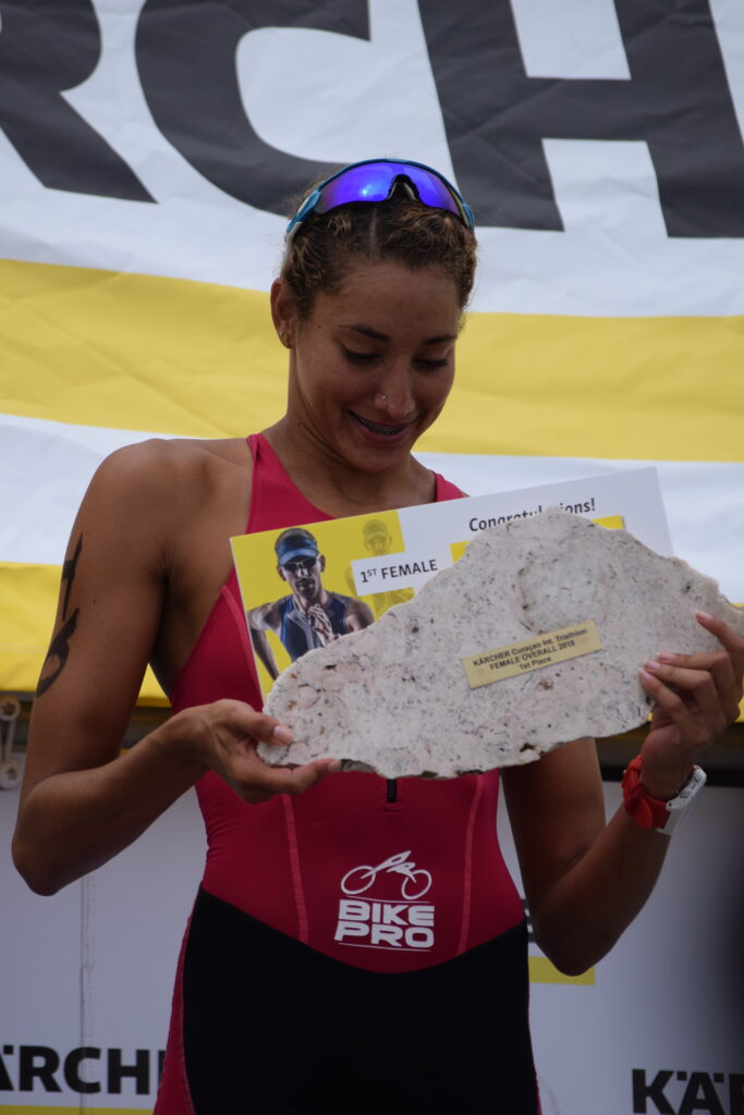 Genesis Ruiz, overall female winner Karcher Triathlon 2018